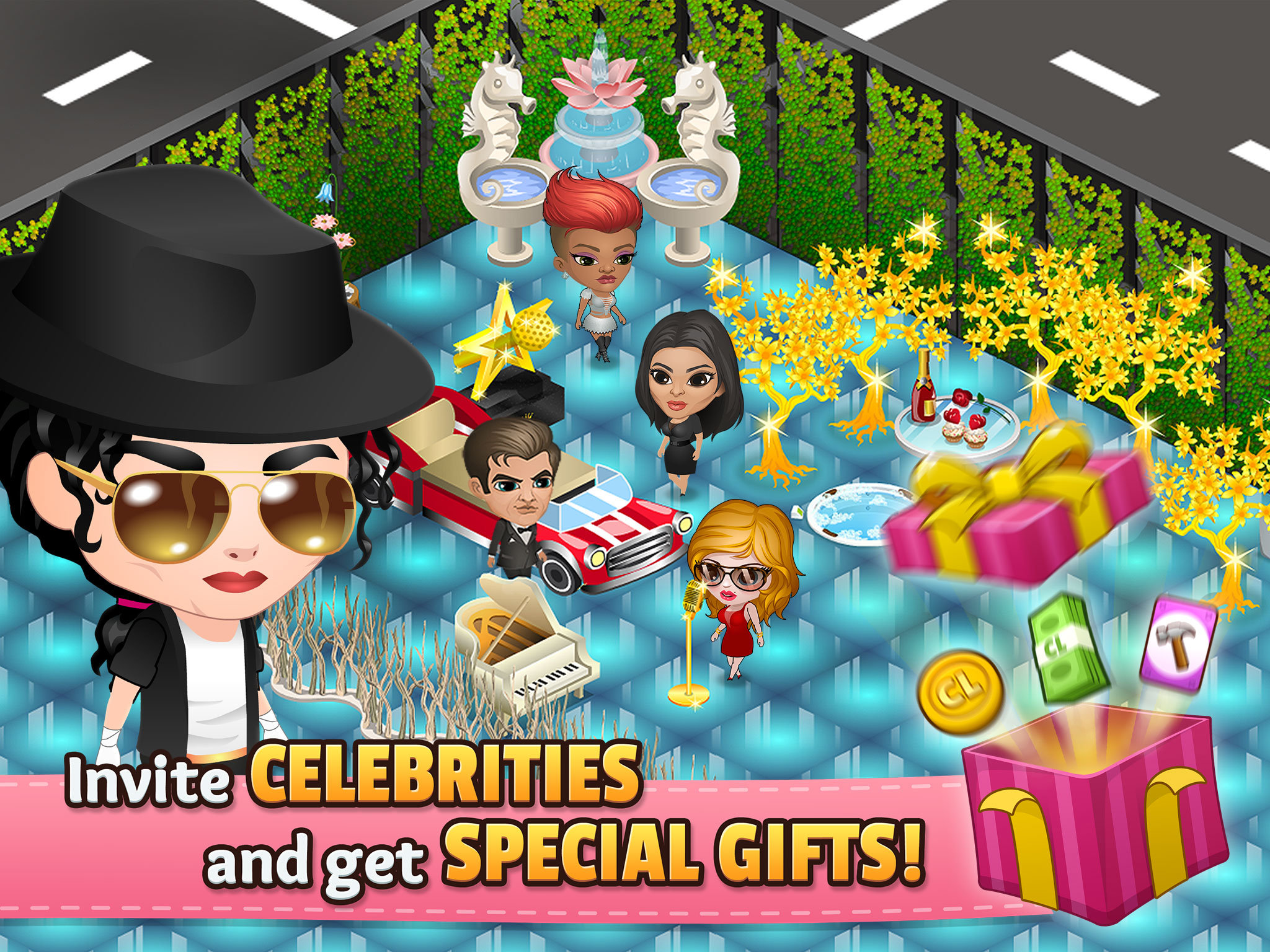 Invite CELEBRITIES and get SPECIAL GIFTS!
